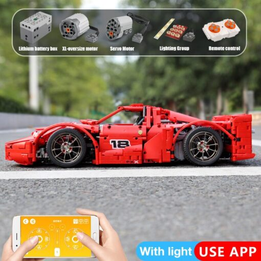 Yeshin 13085 Motor Function Car The 1 8 Red FXX Racing Sport Car Set 2 4Ghz 5