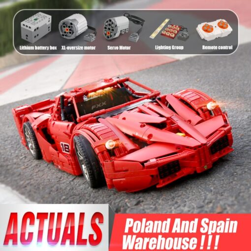 Yeshin 13085 Motor Function Car The 1 8 Red FXX Racing Sport Car Set 2 4Ghz
