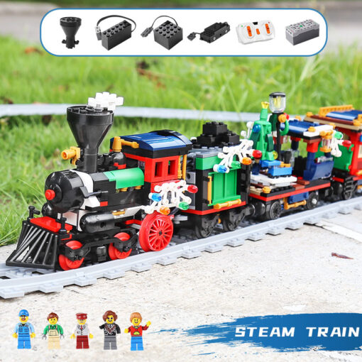 Yeshin 36001 Motorized Techic Car Model Compatible With 10254 Winter Holiday Train Building Blocks Bricks Kids 4