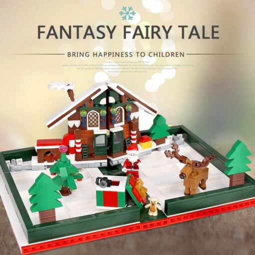 Yeshin Christmas Toys The 3D Foldable Christmas Store Book Set Building Blocks Bricks Kits Santa Claus 1