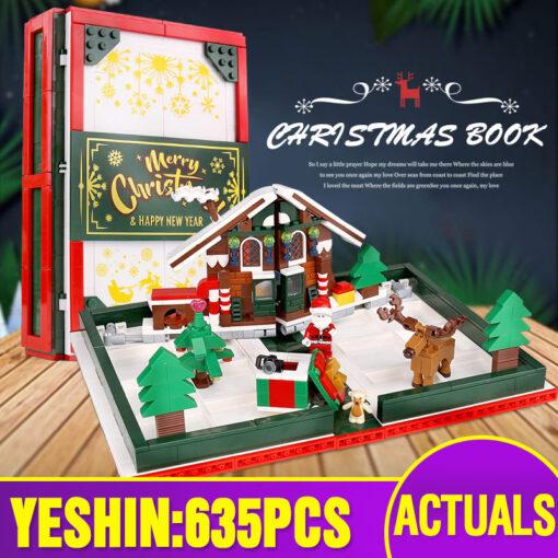 Yeshin Christmas Toys The 3D Foldable Christmas Store Book Set Building Blocks Bricks Kits Santa Claus