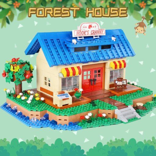 Yeshin K103 Streethouse Building Toys The Animal Crossing House Assembly Bricks Model Building Blocks Kids Christmas 1