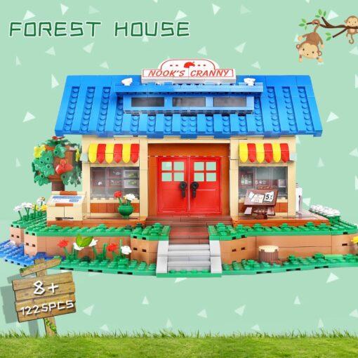 Yeshin K103 Streethouse Building Toys The Animal Crossing House Assembly Bricks Model Building Blocks Kids Christmas 2