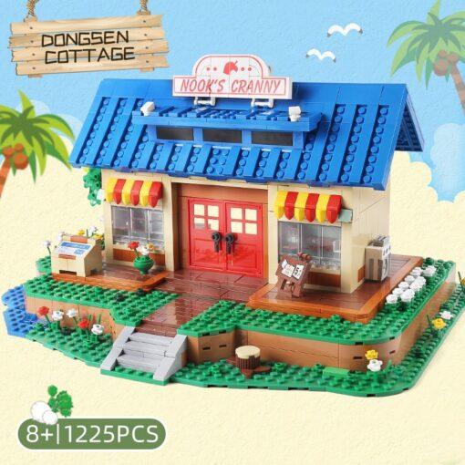 Yeshin K103 Streethouse Building Toys The Animal Crossing House Assembly Bricks Model Building Blocks Kids Christmas 4
