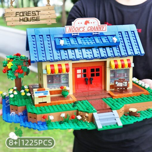 Yeshin K103 Streethouse Building Toys The Animal Crossing House Assembly Bricks Model Building Blocks Kids Christmas 5