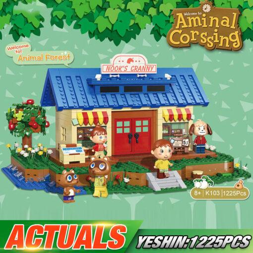 Yeshin K103 Streethouse Building Toys The Animal Crossing House Assembly Bricks Model Building Blocks Kids Christmas