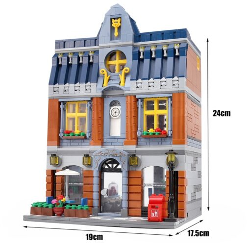 Yeshin Street Building Toys Compatible With 10224 MOC Hill Tavern Toys Model Building Blocks Bricks Kids 1