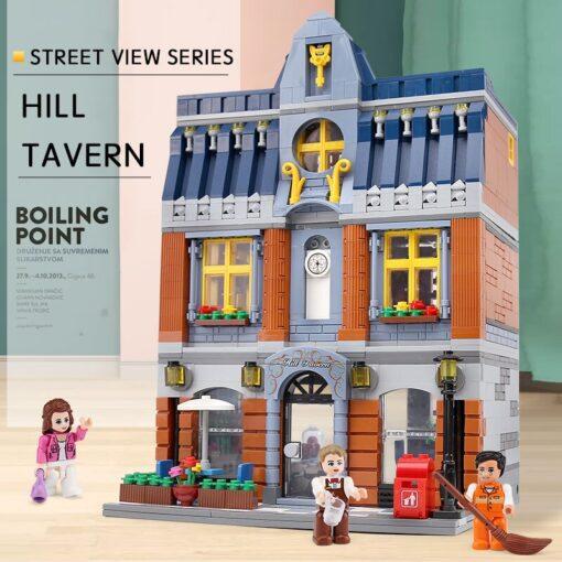 Yeshin Street Building Toys Compatible With 10224 MOC Hill Tavern Toys Model Building Blocks Bricks Kids 2