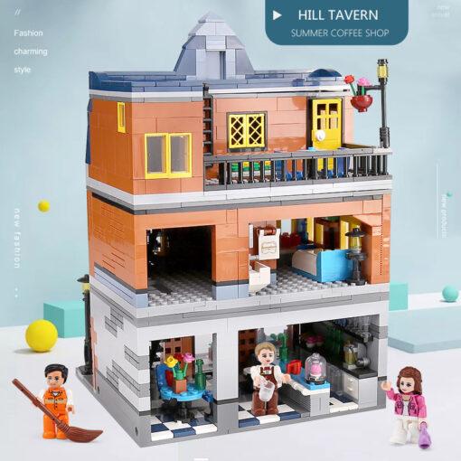 Yeshin Street Building Toys Compatible With 10224 MOC Hill Tavern Toys Model Building Blocks Bricks Kids 3