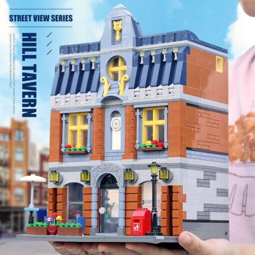 Yeshin Street Building Toys Compatible With 10224 MOC Hill Tavern Toys Model Building Blocks Bricks Kids 5