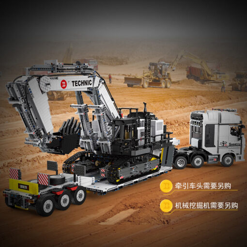 Yeshin X Tech Car Model The Crane Lorry Technic Car Toys Building Blocks Bricks Assembly Kits 5
