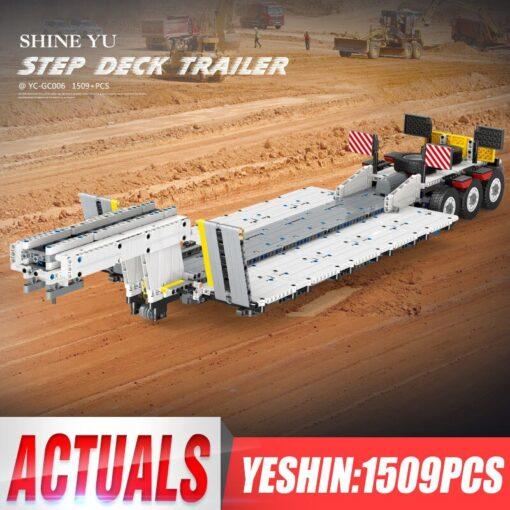 Yeshin X Tech Car Model The Crane Lorry Technic Car Toys Building Blocks Bricks Assembly Kits