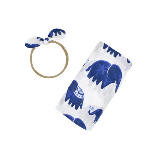 Ylsteed 2Pcs Muslin Swaddle Blankets Headband Set Soft 100 Cotton Newborn Receiving Blankets Infant Swaddling Wrap 4
