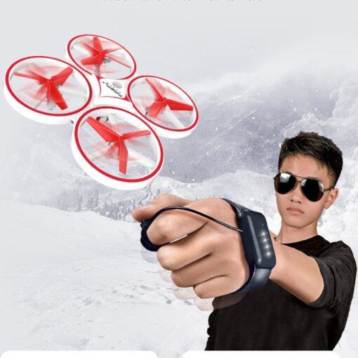 ZF04 RC Mini Quadcopter Induction Drone Smart Watch Remote Sensing Gesture Aircraft UFO Hand Control Drone 1