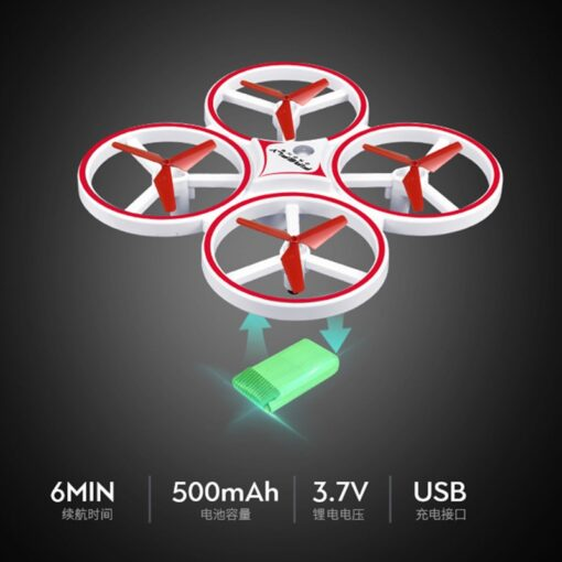 ZF04 RC Mini Quadcopter Induction Drone Smart Watch Remote Sensing Gesture Aircraft UFO Hand Control Drone 2
