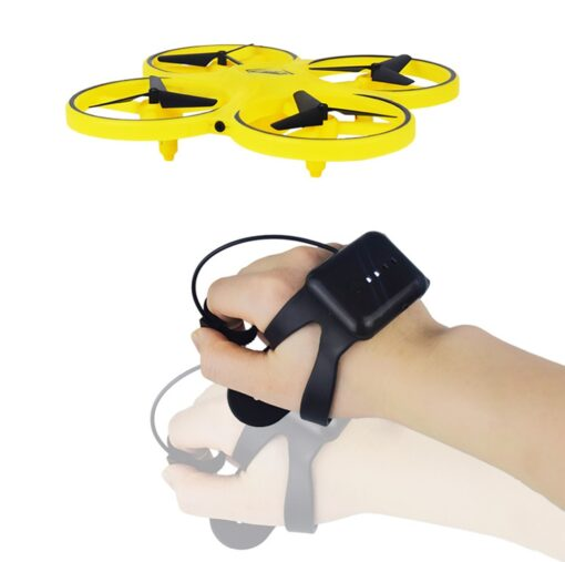 ZF04 RC Mini Quadcopter Induction Drone Smart Watch Remote Sensing Gesture Aircraft UFO Hand Control Drone 4