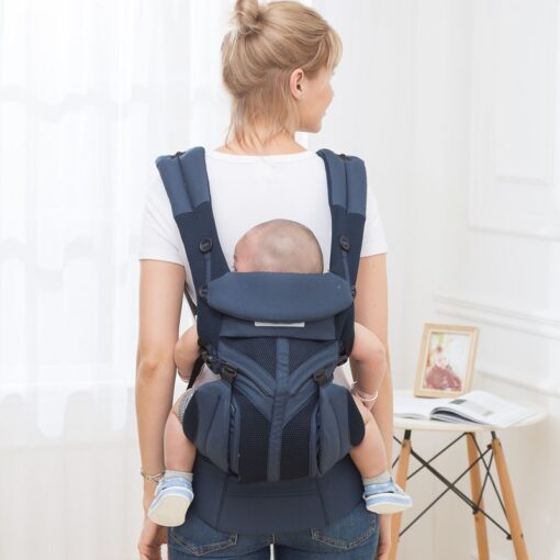 aimama 0 36 months 360 Ergonomic cold air Cotton Adjustable baby carrier Baby Sling Wrap strap 2