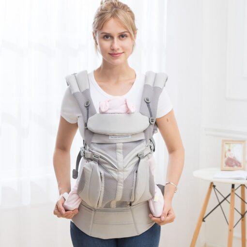 aimama 0 36 months 360 Ergonomic cold air Cotton Adjustable baby carrier Baby Sling Wrap strap 4