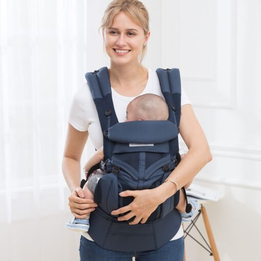 aimama 0 36 months 360 Ergonomic cold air Cotton Adjustable baby carrier Baby Sling Wrap strap 5