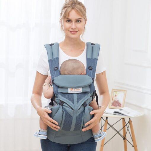 aimama 0 36 months 360 Ergonomic cold air Cotton Adjustable baby carrier Baby Sling Wrap strap