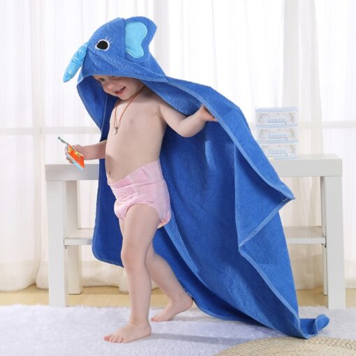 baby blanket hoodie children s bath towel cape animal cartoon baby cover Children s cloak