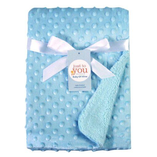 baby blankets Newborn Baby Solid Blanket Swaddling Thermal Soft Fleece Blanket Bedding Quilt kocyk dla dziecka 3