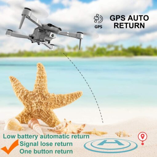drone GPS 4K 5G WiFi live video FPV 4K 1080P HD Wide Angle Camera Foldable Altitude 2