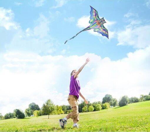 free shipping 3d dragon kite for kids kite nylon toys fly kites children kite line weifang 4