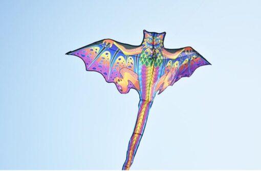 free shipping 3d dragon kite for kids kite nylon toys fly kites children kite line weifang 5