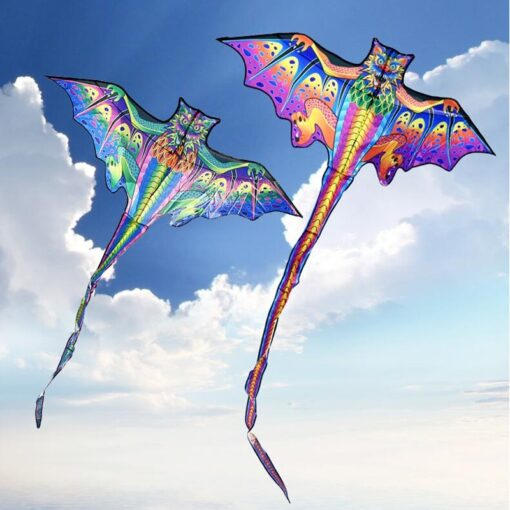 free shipping 3d dragon kite for kids kite nylon toys fly kites children kite line weifang