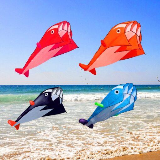free shipping dolphin soft kite nylon fabric kite line animated kites fishing inflatable kite outdoor toy 2