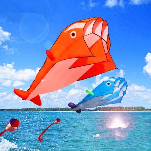 free shipping dolphin soft kite nylon fabric kite line animated kites fishing inflatable kite outdoor toy 3