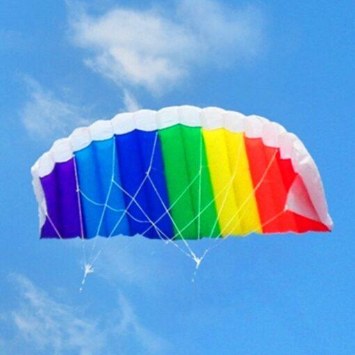 free shipping dual line parafoil kite flying tools line power braid sailing kitesurf rainbow outdoor toys 1