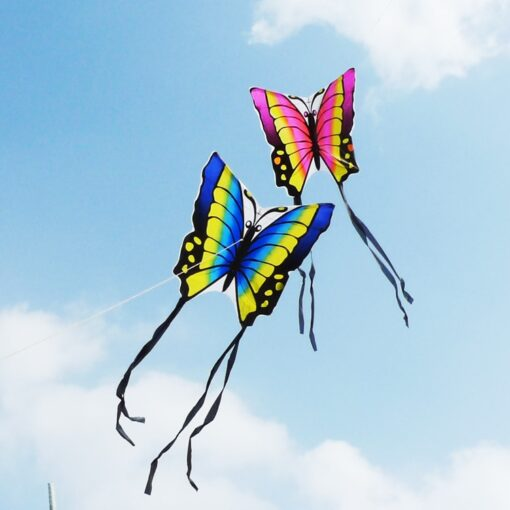 free shipping high quality butterfly kite with handle line children kite flying toys easy control ripstop