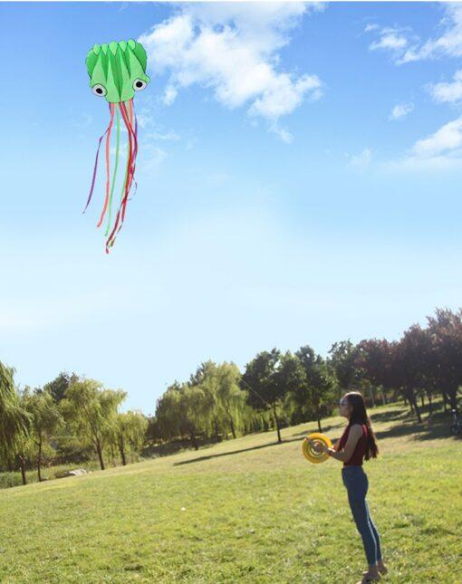 free shipping large octopus kite fly nylon fabric kite weifang kite factory big kite wheel walk 1