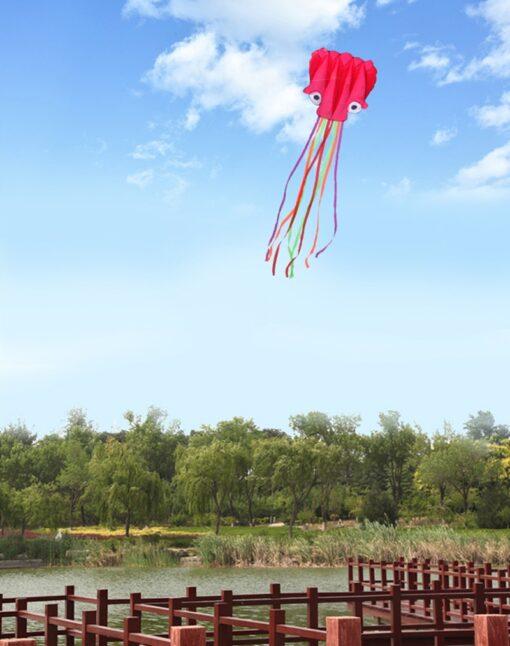 free shipping large octopus kite fly nylon fabric kite weifang kite factory big kite wheel walk 2
