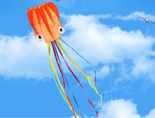 free shipping large octopus kite fly nylon fabric kite weifang kite factory big kite wheel walk 3