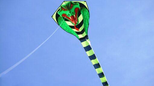 free shipping large snake kite fly toys ripstop nylon kite sports outdoor children kite weifang cobra 1