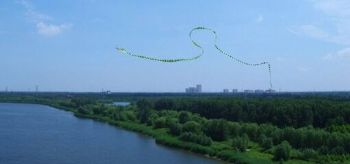 free shipping large snake kite fly toys ripstop nylon kite sports outdoor children kite weifang cobra 5