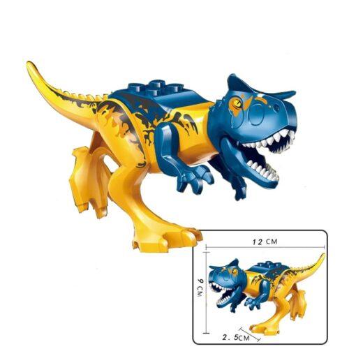 jurassic Dinosaur park Indominus Rex DIY Blocks Dinosaurs Tyrannosaurus Rex Tiny Models Building Block Kids Toys 2