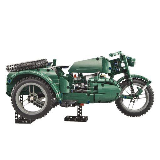 kids Electric motorcycle CaDA 629pcs Building Blocks Anti Slip Wheels Kit Remote Control Child Motorbike Toy 2