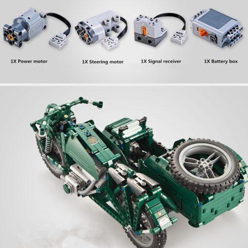 kids Electric motorcycle CaDA 629pcs Building Blocks Anti Slip Wheels Kit Remote Control Child Motorbike Toy 4