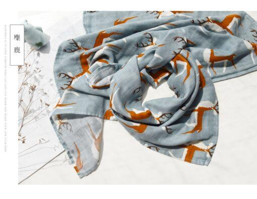 new Cotton Blankets Newborn Soft Organic Cotton Blanket Muslin Swaddle Wrap Feeding Burp Cloth Towel Scarf 3