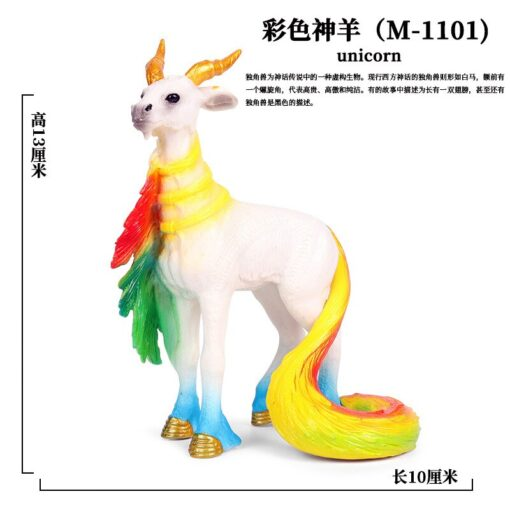 new Unicorn Doll Toy Simulation Mini Animal Model Unicorn Horse Figure Model Wild Figures Kids Toys 2