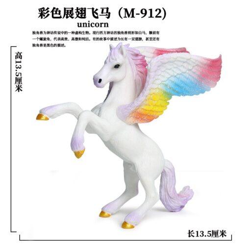 new Unicorn Doll Toy Simulation Mini Animal Model Unicorn Horse Figure Model Wild Figures Kids Toys 3
