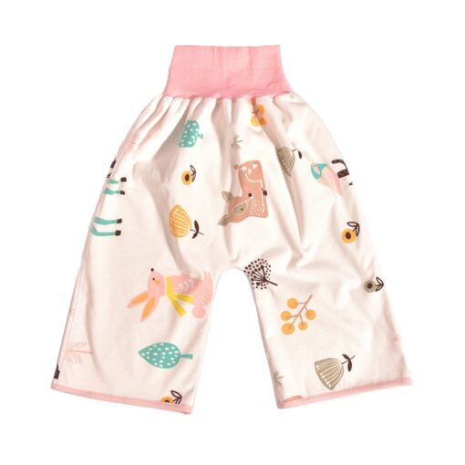 new washable prevent bed wetting Pure cotton high waist nappy trousers for preventing leakage of urine 1