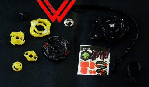 oMoToys Beyblades Metal Fight Video Game metal launcher top Set Vulcan Horuseus BBP01 4