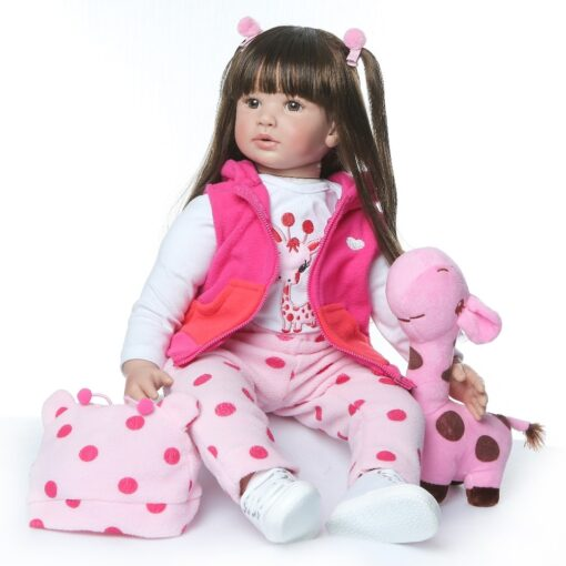 shipping from Russia 60CM high quality reborn toddler princess girl doll adorable Lifelike Baby Bonecas bebe 1