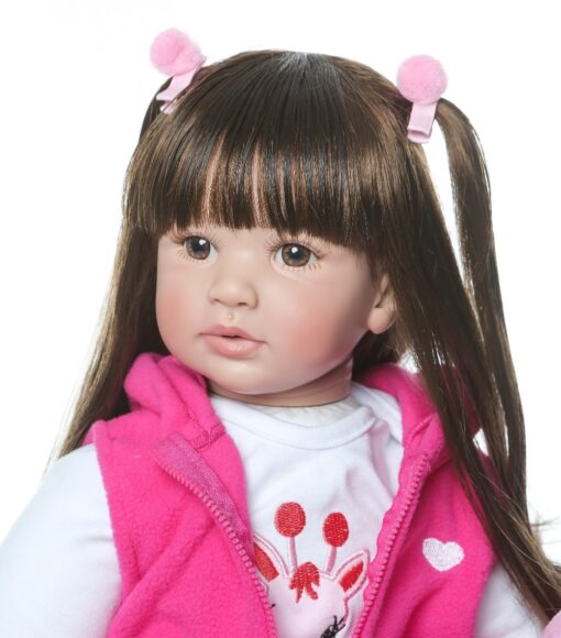 shipping from Russia 60CM high quality reborn toddler princess girl doll adorable Lifelike Baby Bonecas bebe 2