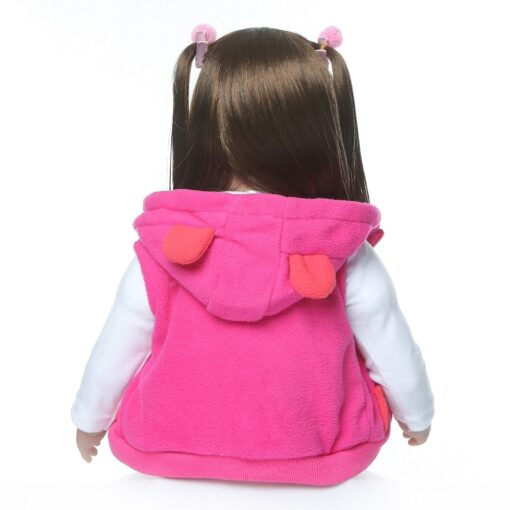 shipping from Russia 60CM high quality reborn toddler princess girl doll adorable Lifelike Baby Bonecas bebe 4